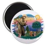 St Francis / 2 Yorkshire Terriers Magnet
