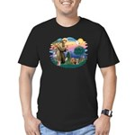 St Francis / 2 Yorkshire Terriers Men's Fitted T-S