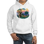 St Francis / 2 Yorkshire Terriers Hooded Sweatshir