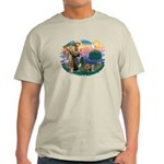 St Francis / 2 Yorkshire Terriers Light T-Shirt