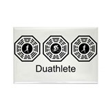 Duathlon Lost Rectangle Magnet