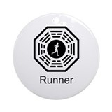Runner Lost Ornament (Round)
