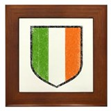 Irish Flag Crest Framed Tile