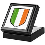 Irish Flag Crest Keepsake Box