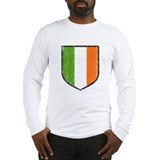 Irish Flag Crest Long Sleeve T-Shirt