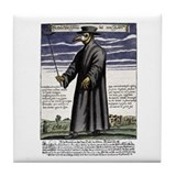 The Plague Doctor. Tile Coaster
