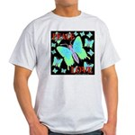 Peace & Love Neon Swallowtail Ash Grey T-Shirt
