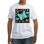 Peace & Love Neon Swallowtail Fitted T-Shirt