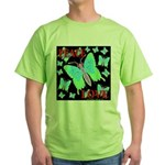 Peace & Love Neon Swallowtail Green T-Shirt