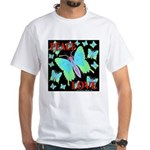 Peace & Love Neon Swallowtail White T-Shirt