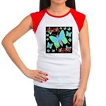 Peace & Love Neon Swallowtail Women's Cap Sleeve T