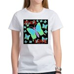 Peace & Love Neon Swallowtail Women's T-Shirt