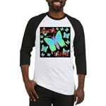 Peace & Love Neon Swallowtail Baseball Jersey