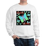 Peace & Love Neon Swallowtail Sweatshirt