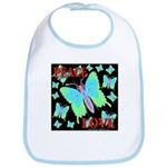 Peace & Love Neon Swallowtail Bib