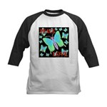 Peace & Love Neon Swallowtail Kids Baseball Jersey