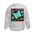 Peace & Love Neon Swallowtail Kids Sweatshirt