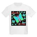 Peace & Love Neon Swallowtail Kids T-Shirt