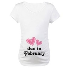 Pink Heart February Due Date Shirt
