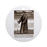 The Plague Doctor. Ornament (Round)