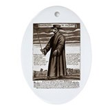 The Plague Doctor. Oval Ornament