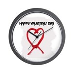HAPPY VALENTINES DAY Wall Clock