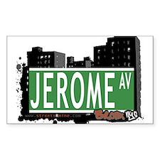 Jerome Av, Bronx, NYC Rectangle Sticker 10 pk)