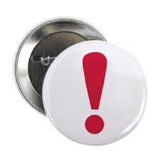 "Exclamation point 2.25"" Button (10 pack)"