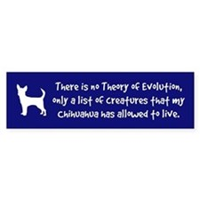 CHIHUAHUA -Evolution Bumper Bumper Sticker