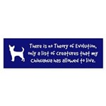 CHIHUAHUA -Evolution Bumper Sticker