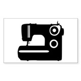 Sewing machine Rectangle Sticker 10 pk)
