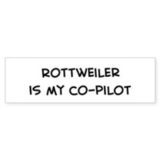 Co-pilot: Rottweiler Bumper Stickers