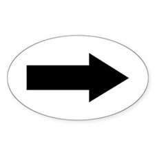 Arrow Oval Sticker (50 pk)