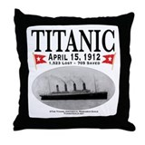 Titanic Ghost Ship (white) Throw Pillow