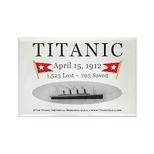 Titanic Ghost Ship (wh) Rectangle Magnet (100 pak)