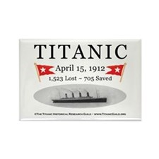 Titanic Ghost Ship (white) Rectangle Magnet