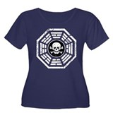 DHARMA Skull Women's Plus Size Scoop Neck Dark T-S