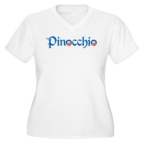 Pinocchio Women's Plus Size V-Neck T-Shirt