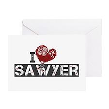 I Love Sawyer (Lost) Greeting Card