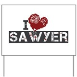 I Love Sawyer (Lost) Yard Sign