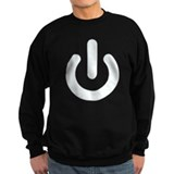 White Power Button Jumper Sweater