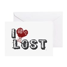 I Love Lost Greeting Card