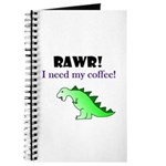 RAWR! I need my coffee! Journal
