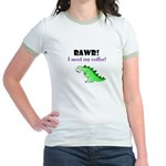 RAWR! I need my coffee! Jr. Ringer T-Shirt
