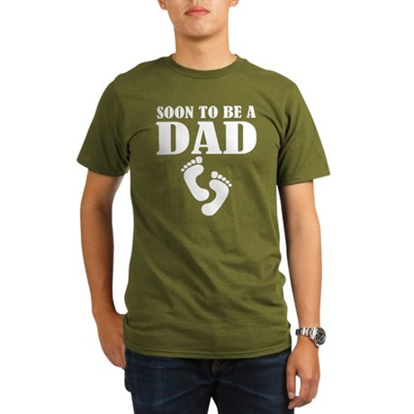 Cool Soon To Be A Dad Organic Men's T-Shirt (dark)