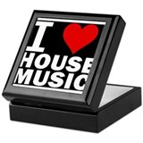 I LOVE HOUSE MUSIC Keepsake Box