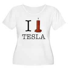 I (Heart/Coil) Tesla T-Shirt