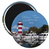 Unique Harbor town lighthouse Magnet