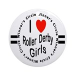 Roller Derby Ornament (Round)