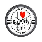 Roller Derby Wall Clock